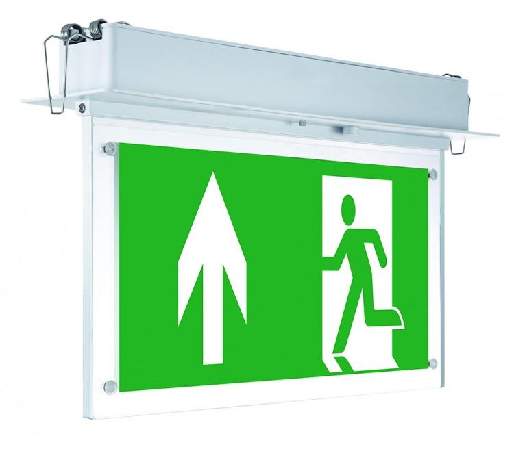 Emergency Recessed Exit Sign – 3 watt